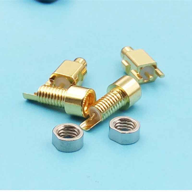 2pcs Custom Made Universal Pin Socket Female Socket Mmcx Pure Copper Gold Plated Built-in Nuts+2pcs Male Mmcx Socket For Shure
