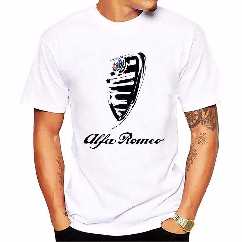 Lustige Italien Nationalen Schtze Alfa Romeo Mnner T Shirt Sommer Sweatshirt Tops Homme Italienischen Stil Kurzarm