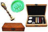 Vintage Big Octopus Custom Luxury Wax Seal Sealing Stamp Brass Peacock Metal Handle Sticks Melting Spoon