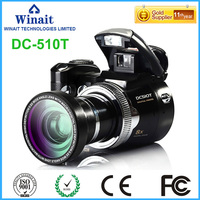 factory oem hoe sell max 16MP SLR digital camera DC 510T 2.4'' TFT display rechargeable llithium battery camera
