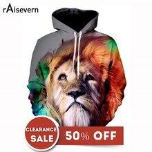 ab0e604d710e Raisevern 3D Lion Imprimé À Capuche Cool Conception Animale Capuche  Swearshirt homme femme pull unisexe Liquidation