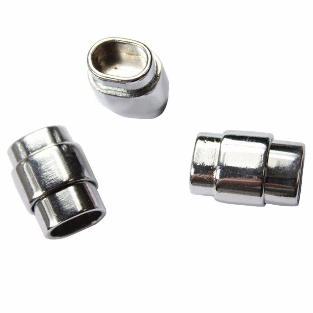 3 комплекта 10 мм x 7 мм серебро магнитная застежка с безопасным бар, застежка для 10 мм x 6 мм солодки кожаный