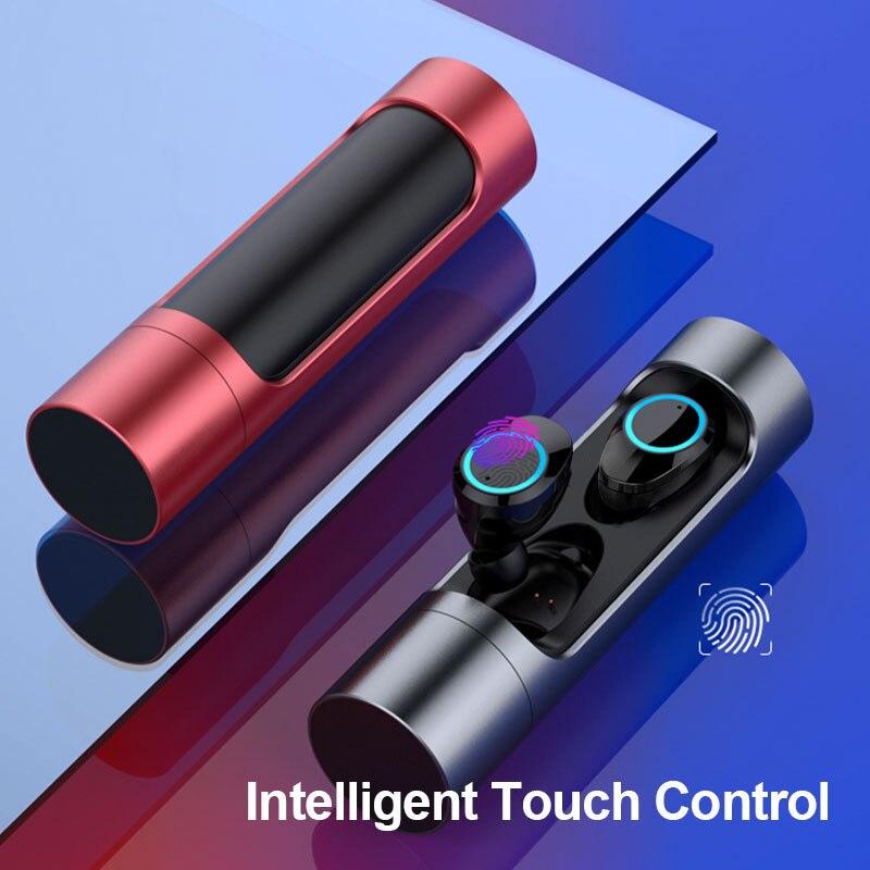 Super Bass Bluetooth 5 0 Wireless Earphone IPX7 Waterproof HiFi Bluetooth Headset Swimming Earphones for Meizu