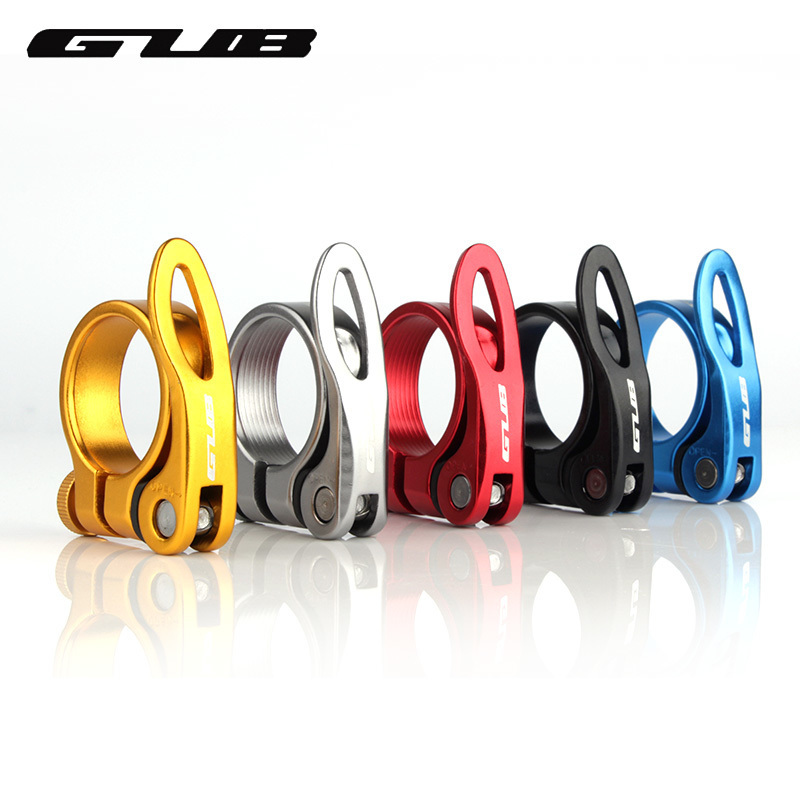 GUB 31.8mm 34.9mm Bicycle Seat Post Clamp Aluminum Alloy Quick Release Bike Seatpost Clamps Clamping Clip Bike Parts bicycle seat clamp post folding hook aluminum alloy for brompton seatpost clamp bike part