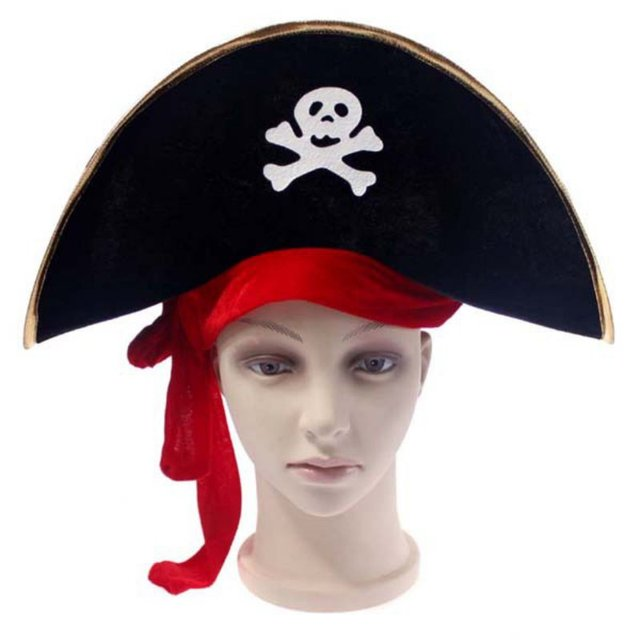 2017 New Halloween Accessories Skull Hat Caribbean Pirate Hat Skull Pirate  Hat Piracy Hat Corsair Cap Party Supplies CN12 3d64a729b182