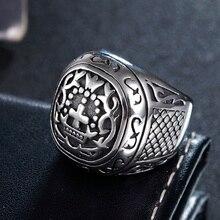 Fashion Punk Stainless Steel Cross Finger Ring Men Women Wedding Crown Jewelry