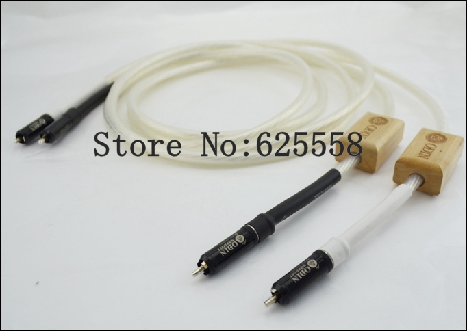 Free shipping Pair Nordost Odin RCA audio cable 1m RCA HIFI CABLE RCA PLUG CABLE extension cable free shipping nordost odin 2 silver speaker cable with silver banana plug or spade plug