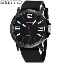 Moda Sport Mens Relojes de Primeras Marcas de Lujo Reloj de Los Hombres Negro Banda de Silicona Relojes De Cuarzo Simple Reloj relogios Masculinos