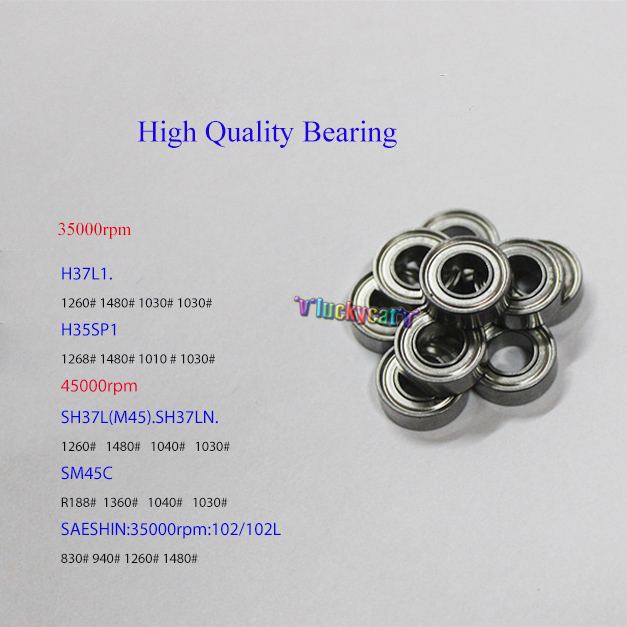 4pcs/set Bearing Micro Motor Handle Accessories Bearings for Micromotor STRONG Korea SEASHIN Handpieces