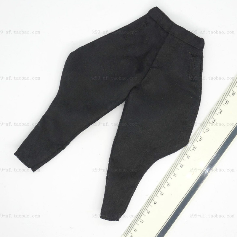 1/6 Scale Black Germany Soldier Pants Trousers Suede Model Y35-12 KCAction & Toy Figures