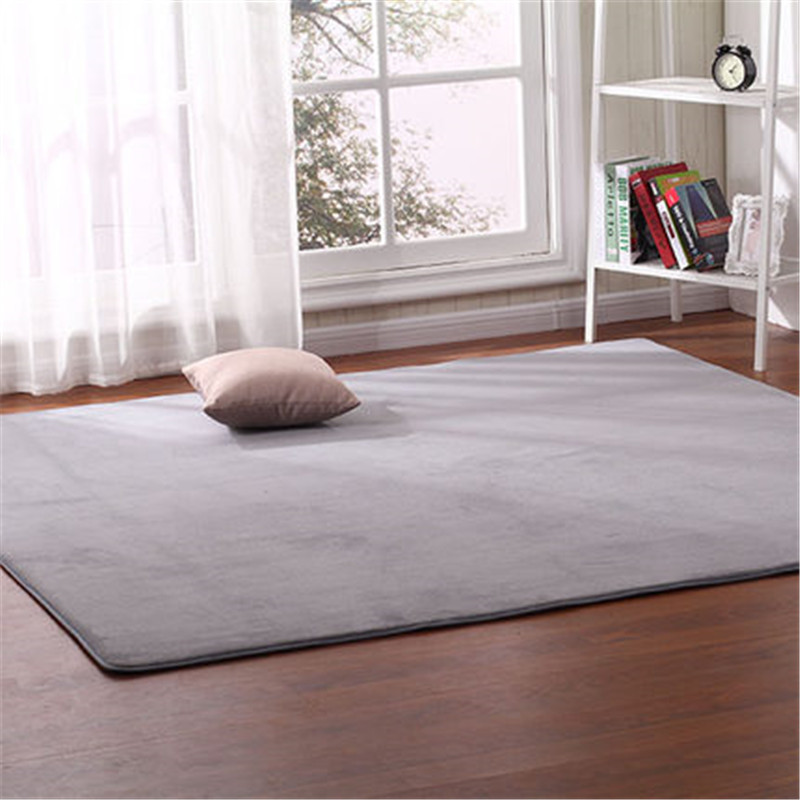 Crawling Mat Outdoor Tent Bottom Pad Thick Coral Fleece Carpet Tatami Rug Bedroom Living Room Bay Window Blanket 140*200cm