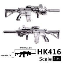1:6 escala 1/6 acción de ensamblaje cifras Rifle HK416 pistola modelo 1/100 soldado piezas y componentes puede usar para Bandai Gundam modelo de juguete