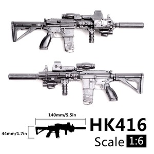 Image 1 - 1:6 1/6 Scale Assemble Action Figures Rifle HK416 Model Gun 1/100 Soldier Parts & Components Can Use For Bandai Gundam Model Toy