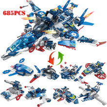 685+pcs Super Hero Warship Building Blocks Toys Compatible Legoed Technic Marvels Avenger Captain America iron Man Children Toys(China)