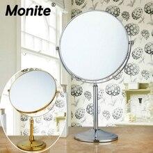 Портативный светодиодный макияж зеркало тщеславие компактный Женщины карманные зеркальца 3X увеличительное косметическое зеркало