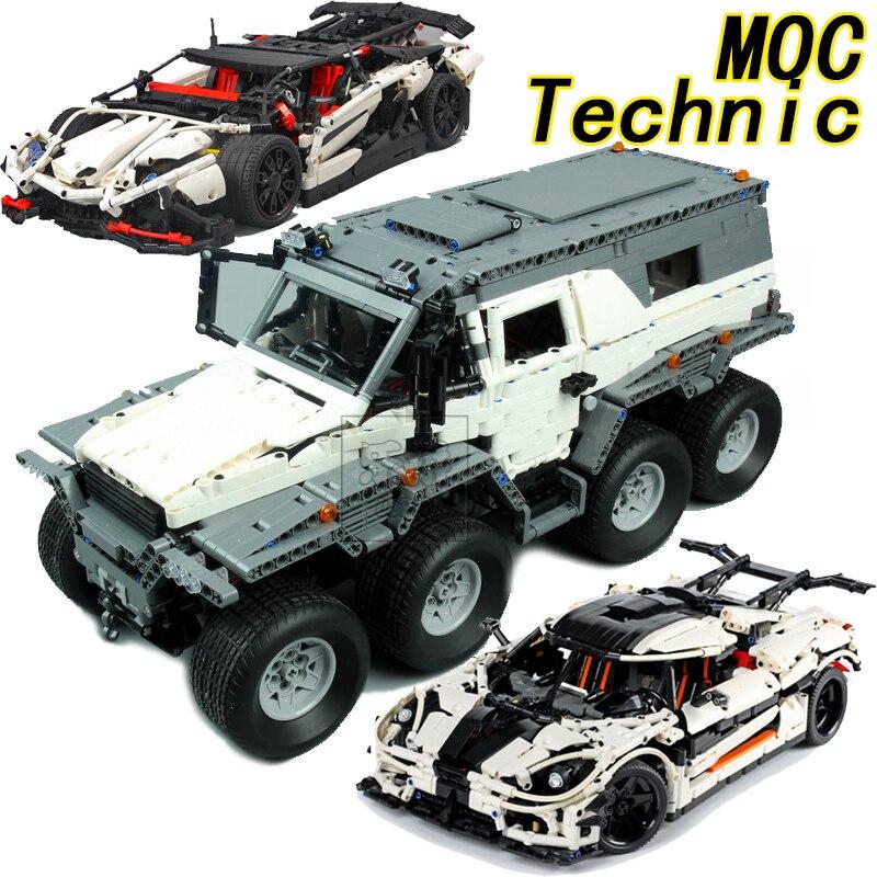 LEPIN 23011 Avtoros Chaman ATV Technique Créateur MOC Moteur Blocs de Construction Briques Jouets de BRICOLAGE Pour Enfants Compatible legoings Voiture Camion