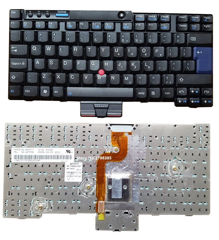 SSEA New English <font><b>Keyboard</b></font> for IBM <font><b>Lenovo</b></font> <font><b>X200</b></font> X201 X200S X200T X201I X201S laptop US <font><b>keyboard</b></font> image