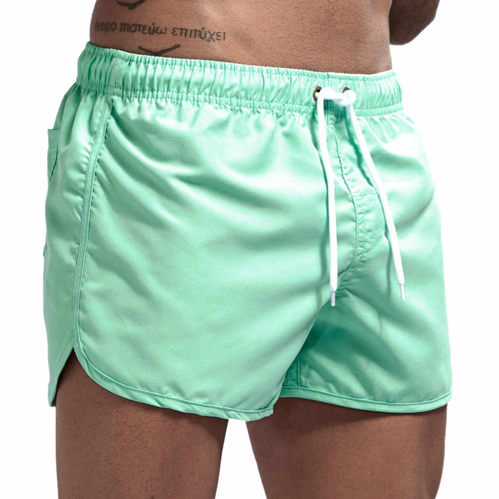 Men's Swimwear  Spring and Summer Splicing Swimming Trousers and Beach Running Sports Surfing Shorts 2019 sunga masculina