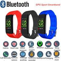 Smart Wristband Men Women Sport Watch Intelligent Bracelet Heart Rate Monitor Digital GPS Sport Track Tennis Jump Rope Id 115