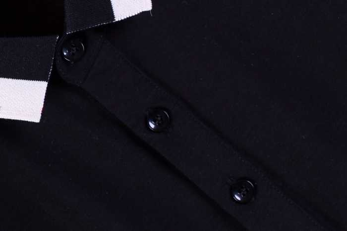 2019 高品質 Tシャツメンズポロシャツビジネス男性ブランドポロシャツ 3D 刺繍ターンダウン襟メンズ綿
