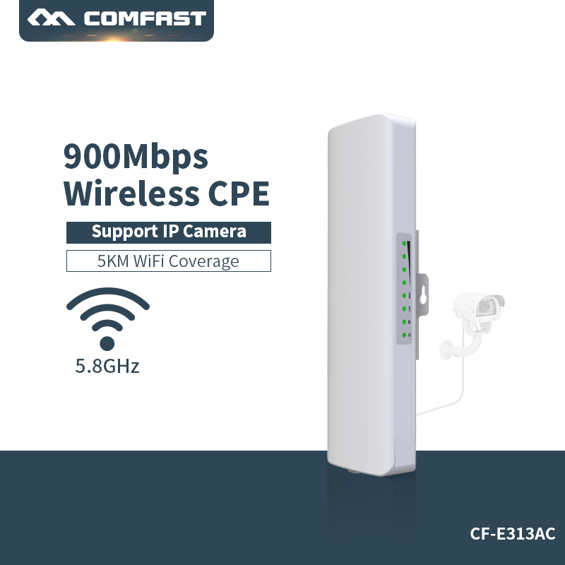 COMFAST 3-5KM Long Range 900Mbps High Power Wireless Bridge CPE 5.8G WIFI Signal Booster Amplifier Repeater AP Router
