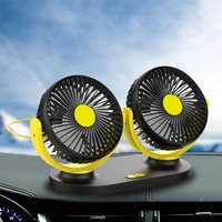 Car Fan General Cars Small Electric Fan Double Head Shaking Head USB Fan