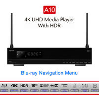 Egreat A10 4 К UHD Media Player Hi3798CV200 2 г/16 г поддержка AC WI FI Gigabit LAN HDR10 Blu Ray 3D Dolby атомов DTS X smart tv box
