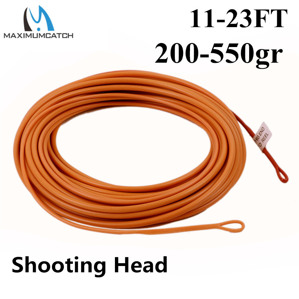 Maximumcatch New Floating Fly Line Shooting Head 17-25ft 200-650gr Fly Line With 2 Welded Loops maximumcatch shooting head fly line 5s 6s 7s 8s 10f 9 5m floating sinking fly line with 2 welded loops