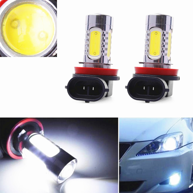 Led Auto Lights >> Us 10 5 30 Off 2pcs H9 Led Auto Fog Light Car Styling 7 5w Cob Led Trailer Lights Tail Driving Bulb Truck Lights 12v Led Light Car Accessories In