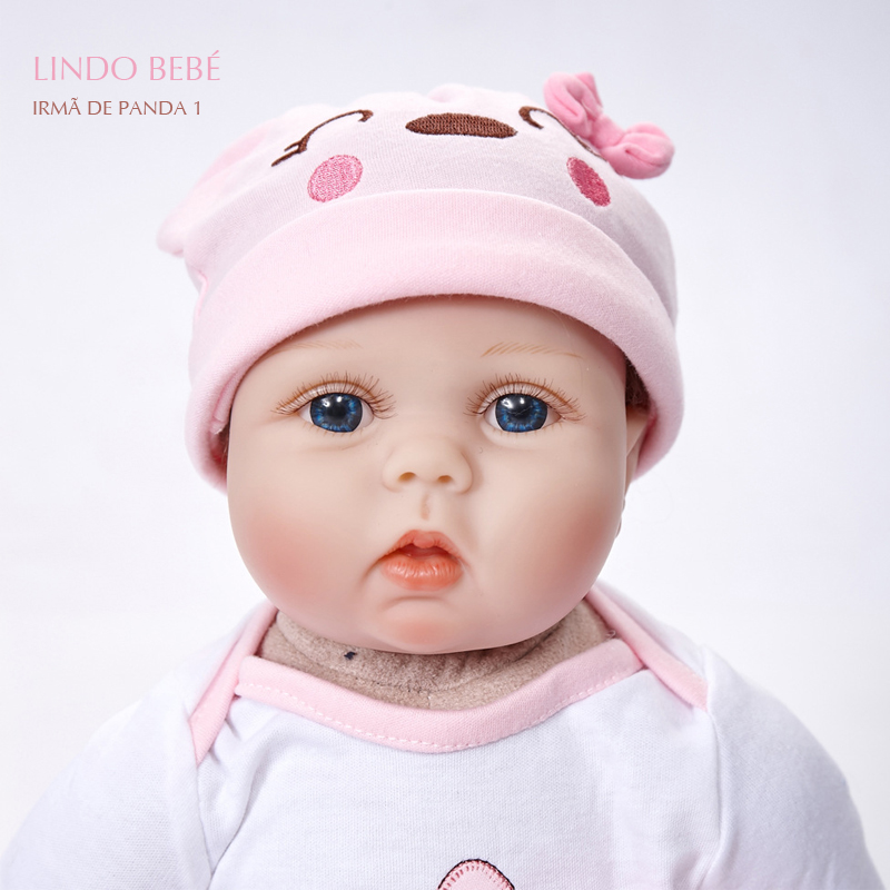 Pandadomik Lifelike Princess Girl Reborn Doll 55cm Realistic Silicone Real Touch Newborn Baby Toy Clothes Kids Gift Brinquedo