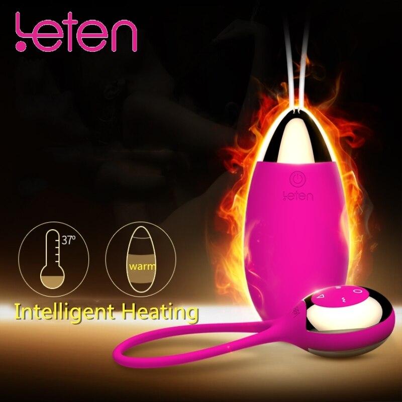 Leten Kegel Bola de Controle Remoto, carregador magnético Aquecimento Exercício de Kegel Bolas Vibrador Mulheres G-spot 70 Modos de Vibração Do Brinquedo Do Sexo