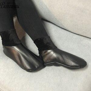 Image 5 - BOHOWAII kalın deri çorap Unisex erkekler kadınlar Harajuku müslüman kış çorap su geçirmez boyutu 34 43 Skarpetki