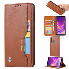 for Samsung Galaxy A9 2018 Case Cover Luxe Magnetic Wallet PU Leer Stand Phone Voor A7 Flip Back