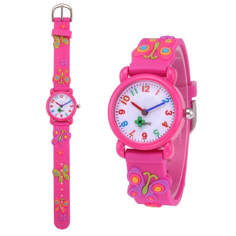Silicone Childrens Watch Kids Cartoon Child Quartz Clock Number Date Children Birthday Boy Girl Student School Hour Gift Watches