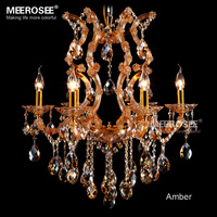Amber chandelier crystal light with K9 crystal maria theresa style Glass crystal lighting fixture lampadari  fast shipping|Chandeliers|Lights & Lighting -