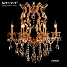Amber chandelier crystal light with K9 maria theresa style Glass lighting fixture lampadari  fast shipping