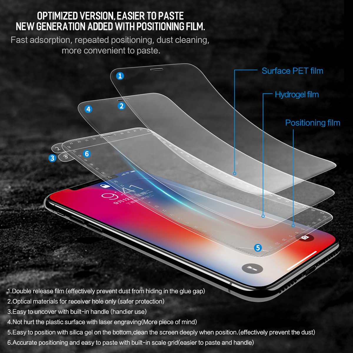separation shoes d5f77 a946c US $6.39 30% OFF|Rock 3D Curved Soft Hydrogel Screen Protector For Apple  iPhone X,0.18MM Slim Full Coverage Film For iPhone X-in Phone Screen ...