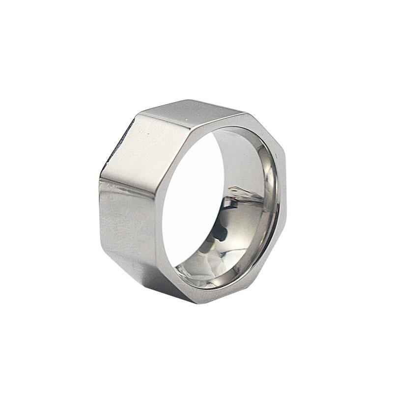 Nut Finger Ring roostevabast terasest ring naiste moe ehted ring - Mood ehteid - Foto 5