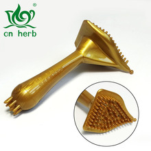 Massage Brush Gold Triangle Body Breastplate Silicone Magnetic Meridian Blanket