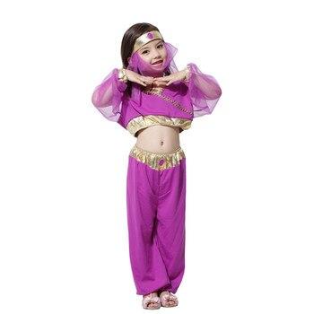 Girls Dress Stage Costume Indian Dance Dress For kids Girls Cosplay Costumes Fancy Party Dresses Children Clothing Set индийский костюм для танцев девочек