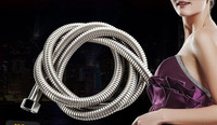chrome stainless steel high quality hand shower plumbing hose length 1.5m plumbing hose size (G1/2')