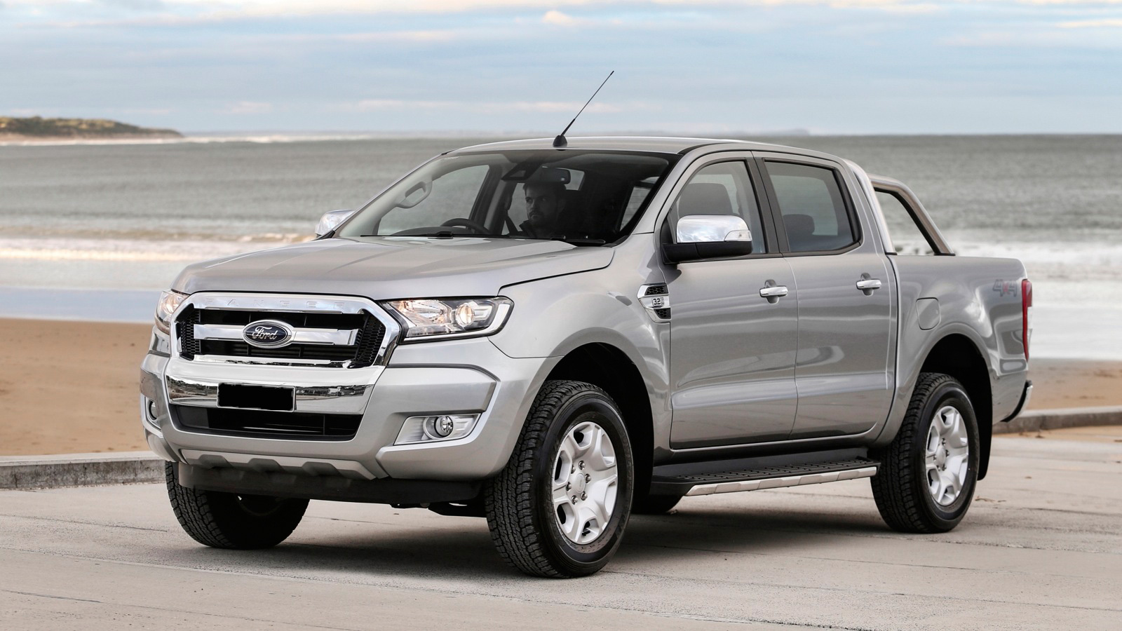2016 2017 Silver Bonnet Scoop Hood For Ford Ranger T7 Black Endeavour Everest Ycsunz In Styling Mouldings From