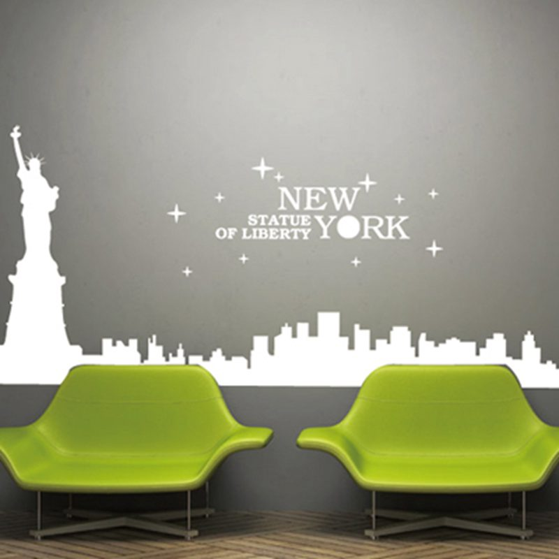 New York City Decal Landmark Statue Of Liberty Wall Stickers Decals Poster  Home Decor Statue Of