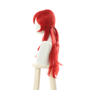 Image 3 - L email wig LoL Lux Cosplay Wigs Battle Academia Prestige Lux Cosplay Wig 70cm Long Red Braid Hair Heat Resistant Synthetic Hair