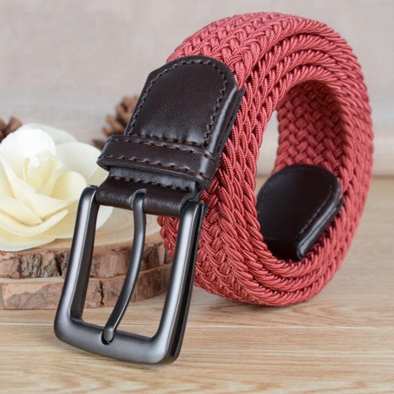 Belts For Men Adult Breathable Woven Belt Vintage Elastic Comfort Belt Advanced Silk Wea ...