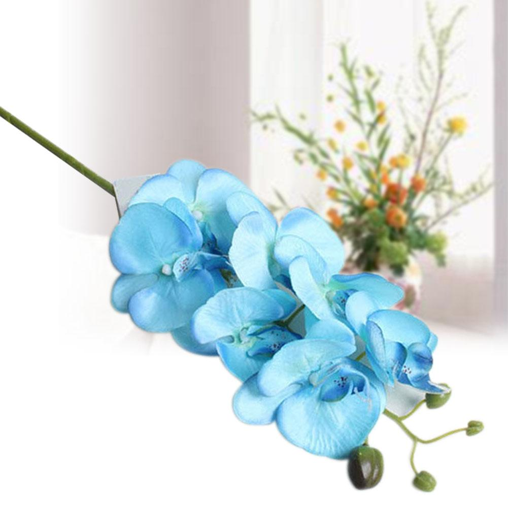Artificial butterfly orchid flowers bouquet phalaenopsis wedding artificial butterfly orchid flowers bouquet phalaenopsis wedding decor blue in hair accessories from womens clothing accessories on aliexpress izmirmasajfo