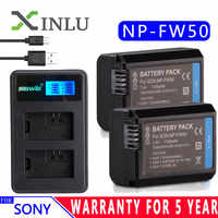 For Sony NP-FW50 LCD USB Charger + 1130mAh NP FW50 Camera Battery for Alpha a6500 a6300 a6000 a5000 a3000 NEX-3 a7R DSC-RX10 Set