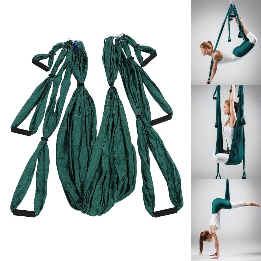 Yoga Hamac Swing Dernière Multifonction Parachute Tissu Anti-gravité Yoga hamack ceintures pour yoga formation