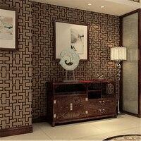 Beibehang Papel De Parede Simple Post Modern Chinese Pane Wallpaper Shop Corridor Aisle Renovation Works Decoration