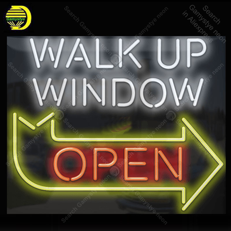 Enseigne au néon personnalisée fenêtre ouverte Tube de verre lumière néon ampoules Bar à bière chambre affichage accessoires néon lumière décor chambre conseil